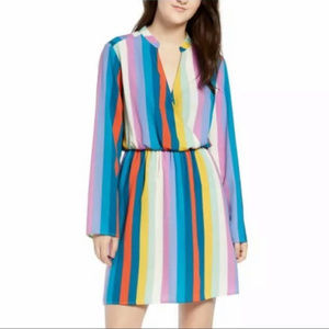 All In Favor Striped Wrap Dress NWT